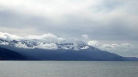 Lake Ohrid, Macedonia. Picture of lake Ohrid, Macedonia, in winter Stock Photos