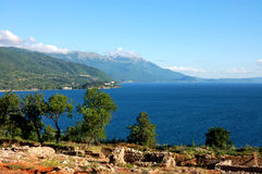 Lake Ohrid - Panorama View Royalty Free Stock Images