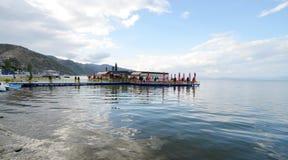 Lake Ohrid, Pogradec, Albania Royalty Free Stock Photography
