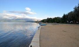 Lake Ohrid, Pogradec, Albania Royalty Free Stock Photo
