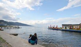 Lake Ohrid, Pogradec, Albania Royalty Free Stock Photos