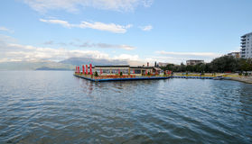 Lake Ohrid, Pogradec, Albania Stock Photography