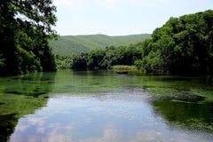 Lake Ohrid Springs - background Royalty Free Stock Image
