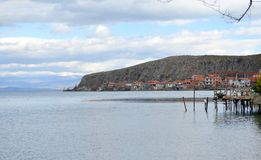 Lake Ohrid, Lin village , Albania Royalty Free Stock Image
