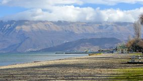 Lake Ohrid,wiew from Pogradec city , Albania Royalty Free Stock Images