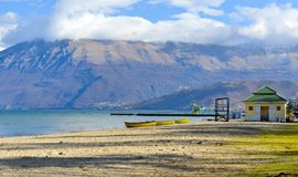 Lake Ohrid,wiew from Pogradec city , Albania Stock Images