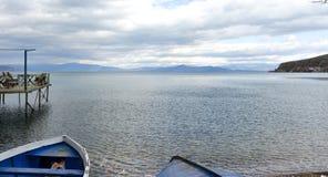 Lake Ohrid,wiew from Pogradec city , Albania Stock Photo