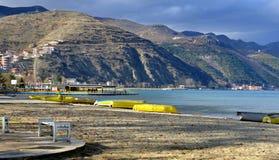Lake Ohrid,wiew from Pogradec city , Albania Royalty Free Stock Photos