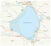 Lake Okeechobee map Stock Image