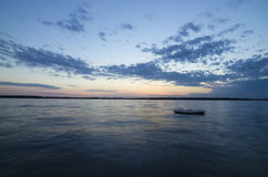 A beautiful sunset on a Lake Okoboji, Iowa Stock Image