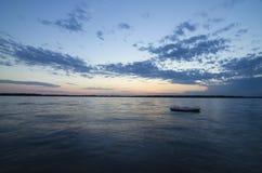 A beautiful sunset on a Lake Okoboji, Iowa. Beautiful sunset in Lake Okoboji, Iowa stock image