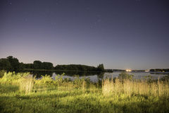 Lake Okoboji at Night Stock Photo