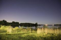 Lake Okoboji at Night Stock Photo