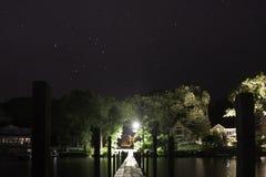 Lake Okoboji at Night Stock Photos