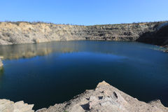 Lake in old quarry Stock Photos