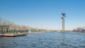 Lake at Olympic Park. A small lake in Beijing Olympic Park Royalty Free Stock Images