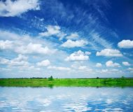 Lake On The Field Royalty Free Stock Photos