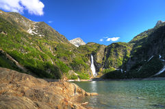 Lake one. A lake in the French Pyrenees (lake d'Oo Royalty Free Stock Image