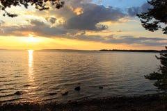 Lake Onega ,Karelia, Russia Royalty Free Stock Photography