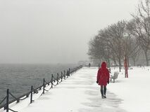 Free Lake Ontario During A Snow Storm. Stock Photography - 208737042
