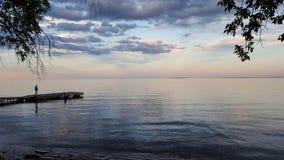 Lake ontario. Evening shot of Lake ontario Stock Photography