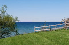 Lake Ontario landscape. Photo of rural landscape of Ontario Lake Royalty Free Stock Photography
