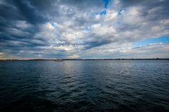 Lake Ontario, seen at the Harbourfront, in Toronto, Ontario. Royalty Free Stock Photo