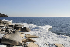 Lake Ontario shore Royalty Free Stock Images