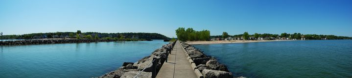 Lake Ontario shore panorama Royalty Free Stock Image