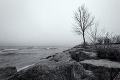 Lake Ontario shoreline Stock Photo