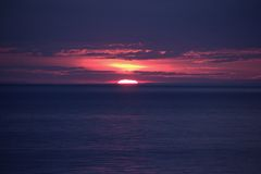Lake Ontario solnedgång Royaltyfria Bilder