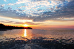 Lake Ontario Sunset Stock Image