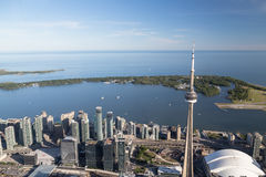 Lake Ontario from Toronto stock photography
