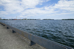 Lake Ontario. The view of Lake Ontario from the Waters Edge Promenade Royalty Free Stock Photo