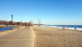 Lake Ontario Winter Beach Stock Photography
