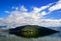 Lake Orestiada. A lake in the Kastoria Prefecture of Macedonia, northwestern Greece Stock Image