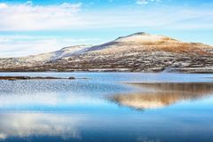 The lake Orkel, Oppdal district, Norway stock photos