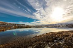 Lake Orkel, Oppdal district, Norway stock image