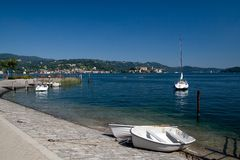 Lake Orta. View to lake Orta (Italy royalty free stock photo