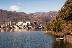 Lake Orta famous italian landscape Royalty Free Stock Photos