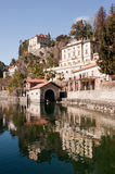 Lake Orta, famous italian landscape Royalty Free Stock Photos