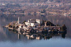 Lake Orta famous italian landscape Stock Photography