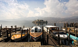 Lake Orta, Isola San Giulio Royalty Free Stock Image