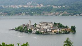 Lake Orta stock footage