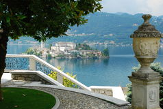 Lake Orta, Italy. Isola di San Giulio  Royalty Free Stock Images