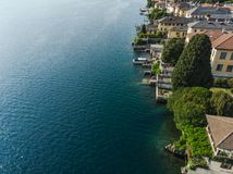 Lake Orta in Italy / Lago d`Orta by drone stock images