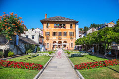 Lake Orta, 19 July 2016. Wedding ceremony outdoor to Villa Bossi Royalty Free Stock Photos