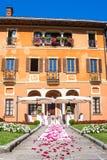 Lake Orta, 19 July 2016. Wedding ceremony outdoor to Villa Bossi Royalty Free Stock Image