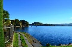 Lake Orta landscape Stock Images