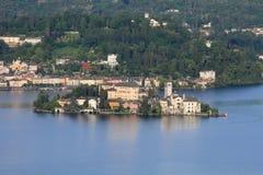 Lake Orta near Milan, Italy Royalty Free Stock Photo